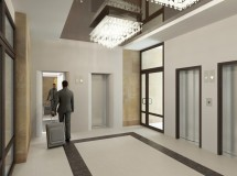 Sketch of Lviv hotel elevator hall renovation