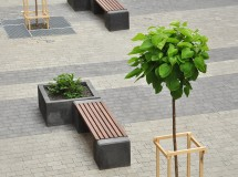 Public space improvement at Kurbasa street in Lviv