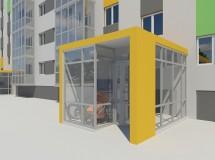 Prefabricated concrete panels building revitalization project