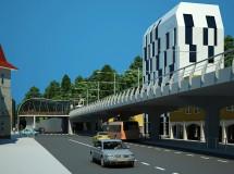 Project of tram bridge in Lviv