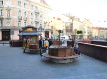 Public space improvement at Galytska sq. in Lviv