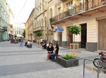 Public space improvement at Kurbasa street in Lviv
