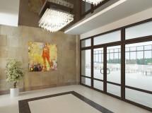 Ескіз реконструкції ліфтового холу готелю в м. Львові