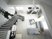 Interior design project of two-storied apartment in Kazan