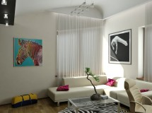 Interior design project of two-storied apartment in Lviv