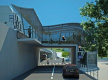 Project of tram bridge in Lviv