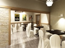 Project of cafe interior in Lviv